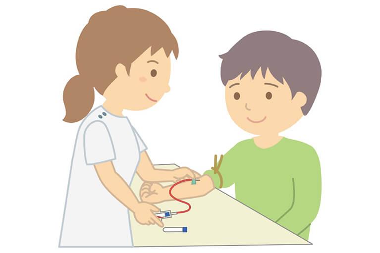 血液検査を受けて頂きます